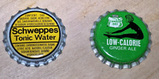 Set of Canada Dry and Schweppes Bottle Caps *new / unused*