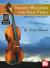 """""""SACRED MELODIES FOR SOLO VIOLA"""" W/PIANO ACCOMPANIMENT-MUSIC BOOK/ONLINE PDF-NEW"""