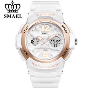 SMAEL Women Sport Watch LED Quartz Digital Wristwatch Student Electronic Watches