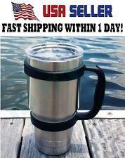 Handle For 20 Oz RTIC YETI OZARK Rambler Tumbler Cup Holder Travel Black Mug NEW