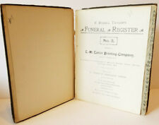 RUSSELL TAYLORS Undertakers Supplies FUNERAL Death REGISTER 1913-1920 Illinois