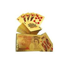 24K Gold Plated Playing Cards £50 Edition Poker Deck 99.9%Pure Plastic Card