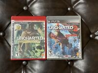 *LOT* Uncharted: Drakes Fortune & Uncharted 2 (Sony PS3) Mint + Free Shipping