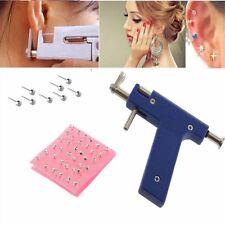 Professional Steel Ear Nose Navel Body Piercing Gun 72pcs Studs Tool Kit Set G0