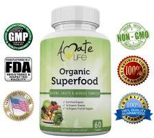 Organic Superfood Greens Fruits & Veggies Complex Rich in Antioxidants Made USA