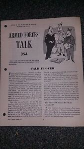 """Armed Forces Talk military magazine #354 """"Talk It Over"""""""