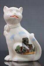Vintage Crested Ware Shrewsbury The Abbey Church Cat Figurine