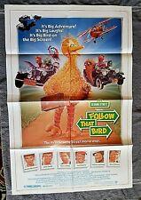 Follow the Bird Movie Poster SESAME STREET Waylon Jennings JOHN CANDY Big Bird