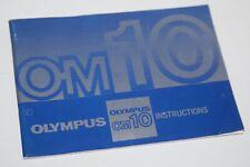 Olympus OM10 - Vintage Camera Instruction Manual