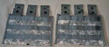 (Lot of 20) NEW, Molle Triple Mag Pouch 3x30-rd ACU GENUINE US MIL AR/AK/SKS/M4