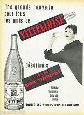 PUBLICITE ADVERTISING 125  1960  La Vittelloise eau minérale gaz naturel