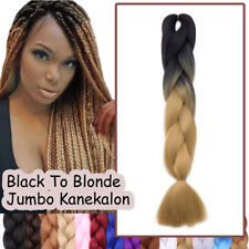 UK Clearance Dip Dye Brown Blonde Jumbo Braids Crochet Braiding Hair Extensions