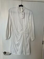 White Zara Silky Split Mini Dress Sz XS