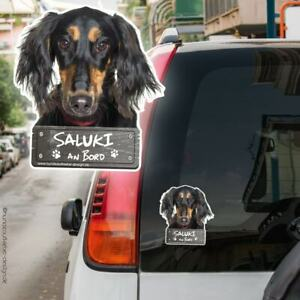 Saluki an Bord Autoaufkleber 10x11cm Hundeaufkleber wetterfest Hund 0921