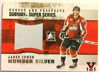 2009-10 ITG Heroes & Prospects Subway Super Series Number Silver Jared Cowen 1/1
