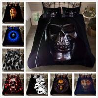 3D Alien Skull Skeleton Duvet Cover Bedding Set Pillowcase Comforter/Quilt Cover