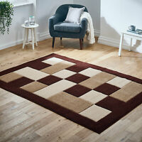 Brown Beige Small Large Box Geometric Sale Thick Modern Area Low Cost Rugs