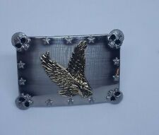and a Golden Eagle on center. Belt Buckle with Skulls on each corner
