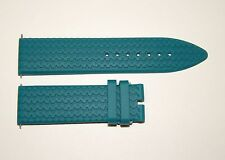 Replacement Chopard Mille Miglia Tire Style Silicon Band Teal 23mm Blue Green