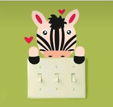 Zebra vinyl light switch decal sticker baby nursery boy girl