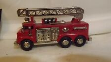 Fire Engine Ladder Truck With Timex Clock Great Display Model