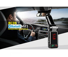 Vivavoce BLUETOOTH CAR Kit Lettore MP3 Flash USB AUX FM Trasmettitore Caricabatterie per auto