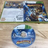 Madagascar 3: The Video Game Microsoft Xbox 360 2012 With Case *