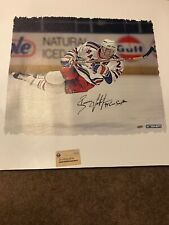 New York Rangers Brian Leetch Autographed Canvas 20x24 Steiner Sports Coa