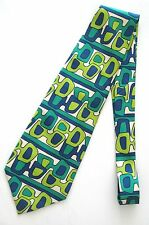 GUCCI ABSTRACT NECKTIE Vintage 1970's Wide Tie 100% SILK MADE IN ITALY