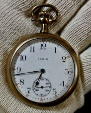 Vintage Elgin Pocket Watch ~ Beveled Working W41