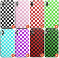 Checkered Slim Flexible Phone Case for iPhone | Checkerboard Checked Checke