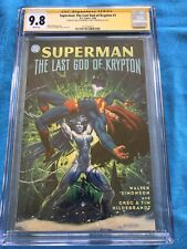 Superman: Last God of Krypton - DC - CGC SS 9.8 -Signed by Hildebrandt, Simonson