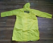 NYCHA Full Lenght Safety Yellow Hooded Raincoat Size 4XL