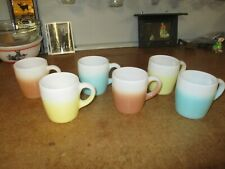 Hazel Atlas Set of 6 Ombre Mugs Nice!