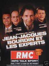 PUBLICITÉ RMC INFO TALK SPORT JEAN-JACQUES BOURDIN ET LES EXPERTS