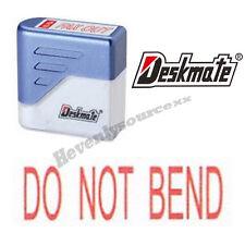 { DO NOT BEND } Deskmate Red Pre-Inked Self-Inking Rubber Stamp #KE-D03