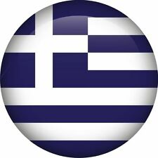 Greece Greek National Flag Round Icon Sticker Decal Graphic Vinyl Label
