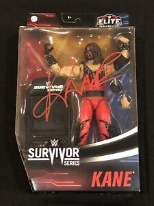 WWE Elite Survivor Series Kane Series Action Figure MOC Hand SIGNED HOF 2021