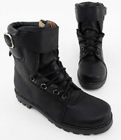Boots Pre Go Stiefeletten Schn rer Blockabsatz Echtleder schwarz Gr. 42
