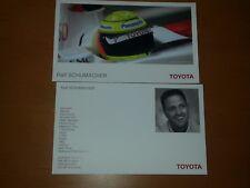 Ralf Schumacher 2007 Autogrammkarte ohne Unterschrift von Toyota