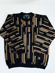 Mens Tundra Pullover Black/ Tan Colorblock SizeXL