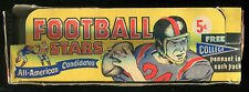 1961 NU CARD FOOTBALL BOX AND 5 WRAPPERS