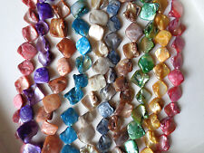 Perlmutt Nuggets Farbauswahl Muschelperlen 10Farben auswählbar