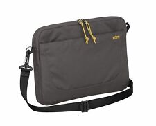"STM Blazer Padded Sleeve 11"" Laptop Case Notebook Bag Brown Zip Pocket Strap NEW"
