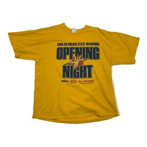 Golden State Warriors 2008-2009 Opening Night Tip Off T-Shirt Size XL