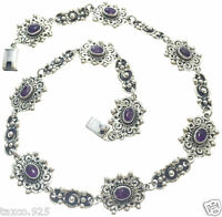 TAXCO MEXICAN VINTAGE DESIGN STERLING SILVER AMETHYST NECKLACE MEXICO