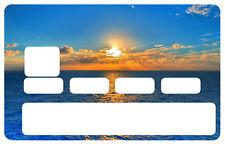 STICKER SOLEIL ETE CARTE BANCAIRE CREDIT CARD CB SKIN AUTOCOLLANT STICKER CC062
