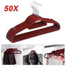 BK011= 10 Weber Kunststoffbügel rot Wäschebügel Kleiderbügel Kombibügel
