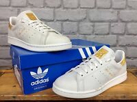 ADIDAS MENS UK 6 NOBLE METALS GOLD STAN SMITH TRAINERS GOLD LEAF NUBUCK LEATHER