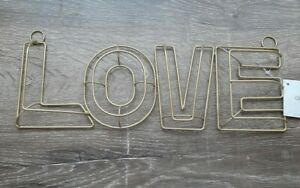 Gold Love Wall Decor 3D Wire